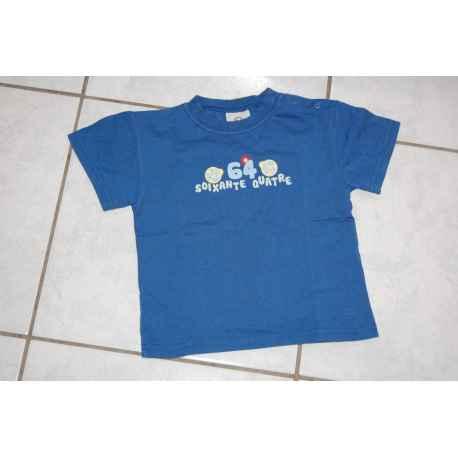 "Tee shirt ""64"" bleu"