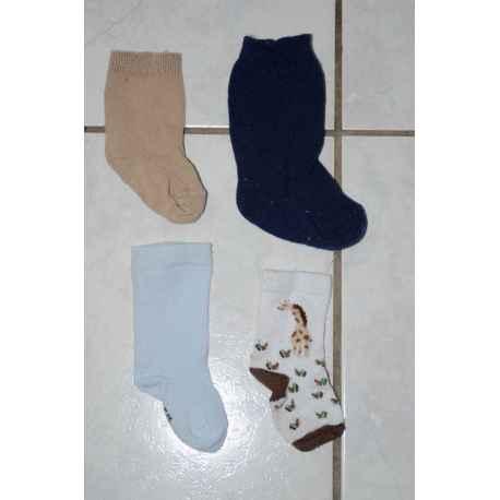 4 paires de chaussettes T.15/18