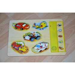 """Puzzle en bois """" Les véhicules"""""""