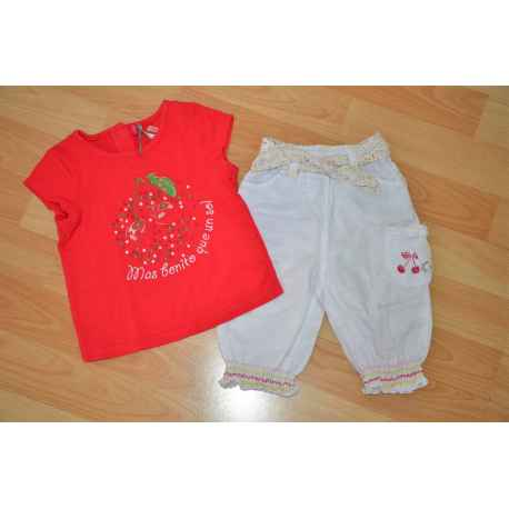 Ens. ORCHESTRA Tee shirt + knickers 6/9 mois