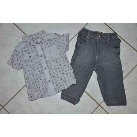 Ens. ORCHESTR Chemise + Jeans 9 mois