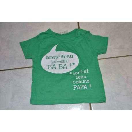 Tee shirt vert 9 mois