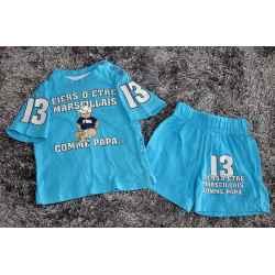 """Tee shirt + Short """"Fier d'être Marseillais"""" 6 mois"""