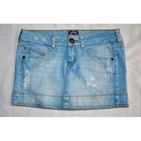Jupe en jeans BERSHKA T.34