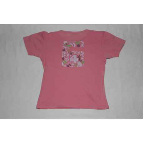 "Tee shirt ""64"" rose 3 ans"