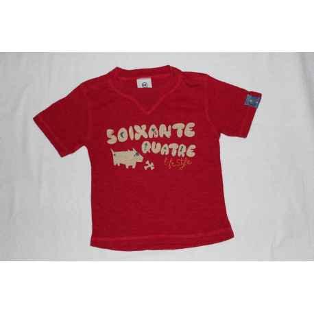 "Tee shirt ""64"" rouge"