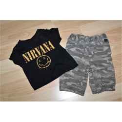 Tee shirt Nirvana + Pantalon 1 mois