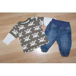 Tee shirt + Jeans H&M 3 mois