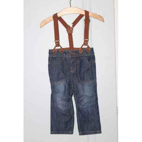 Jeans a bretelles TAPE A L'OEIL 12 mois